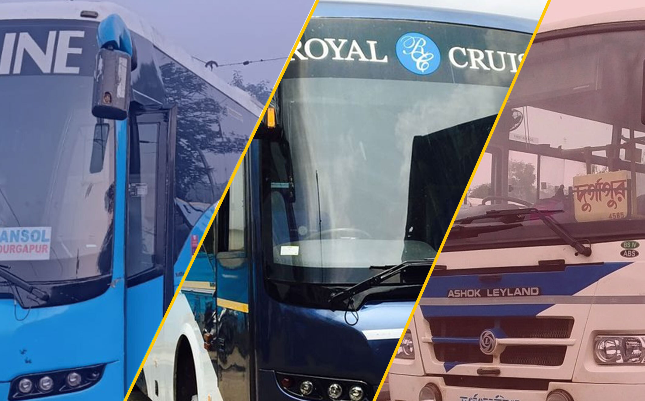 Buses in Asansol city