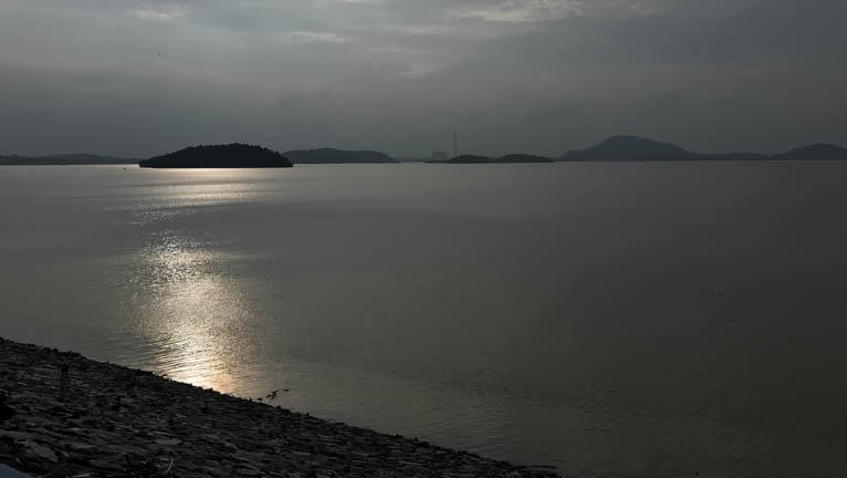 Maithon Dam Beautiful Sunset
